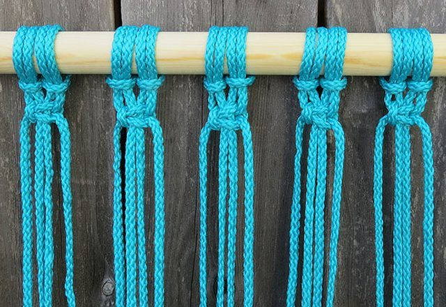 DIY Hammock: Instruction on How to Make your Home Comfortable. Wicker hammock step-by-step: weaving step 4