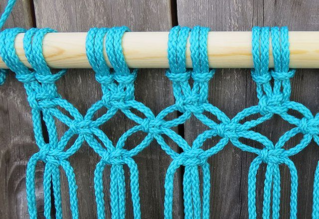 DIY Hammock: Instruction on How to Make your Home Comfortable. Wicker hammock step-by-step: weaving step 6