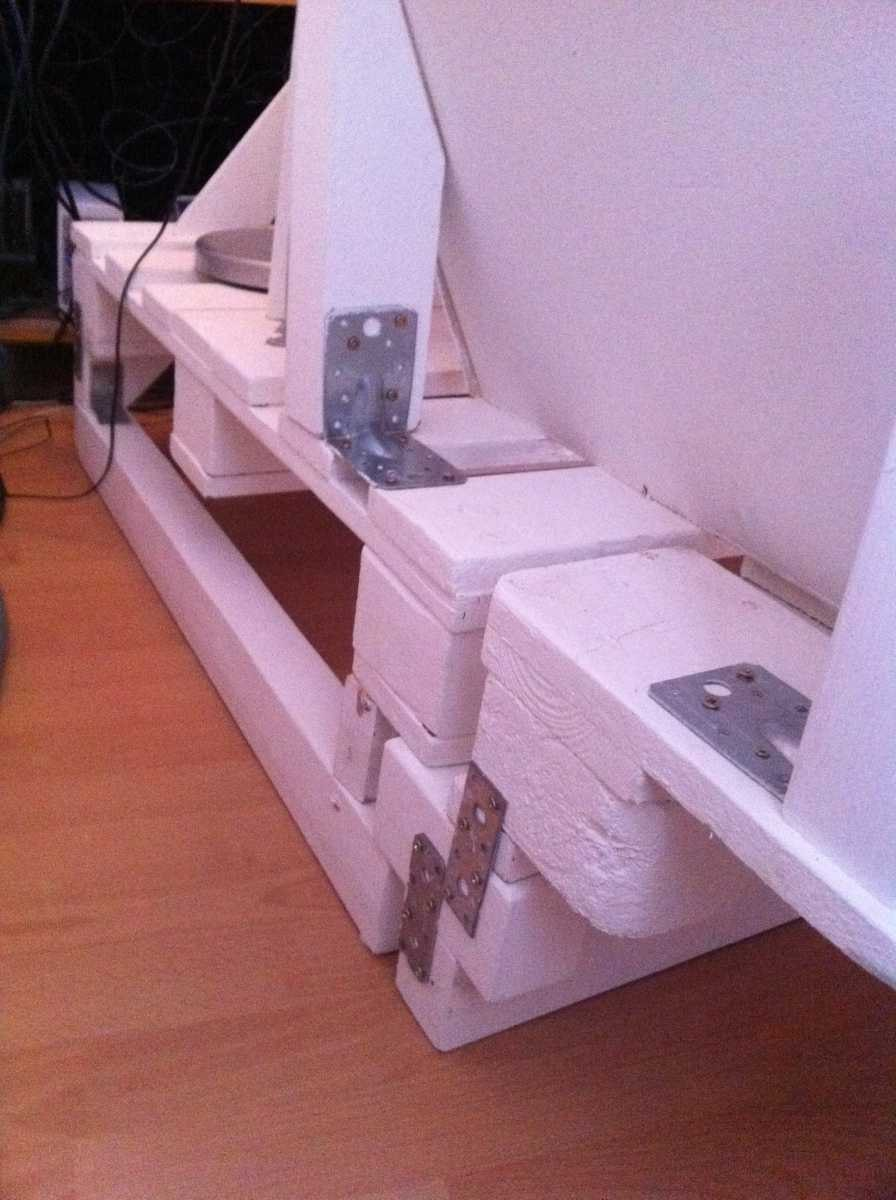 Corner sofa DIY assembling: step 14