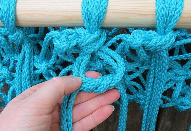 Wicker hammock on the frame
