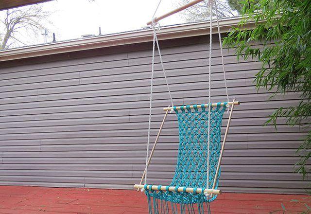 Enjoy the resulting DIY hammock in the backyard