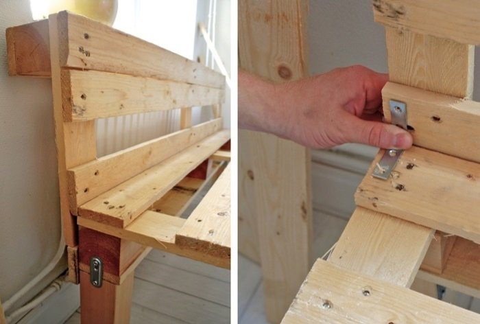 Small bench for hallway: step 3, assembling with corners