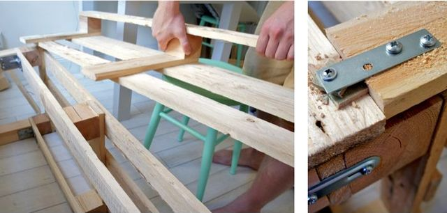 Small bench for hallway: step 4, setting the backrest