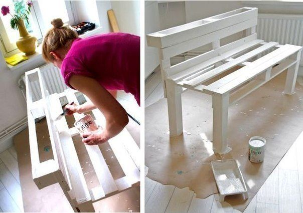 Small bench for hallway: step 6, painting