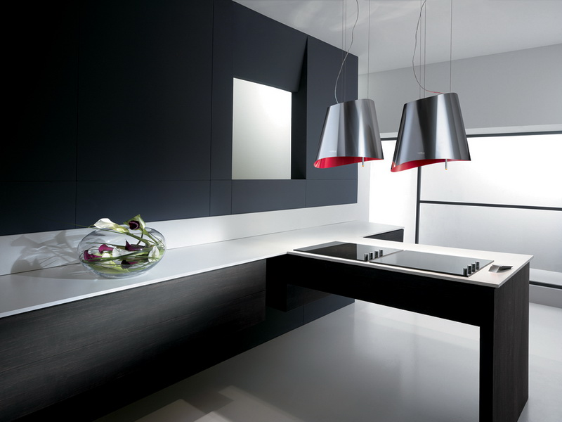 Top 10 most Popular Mistakes when Designing a Kitchen. Dark matted facades of the ultramodern furniture