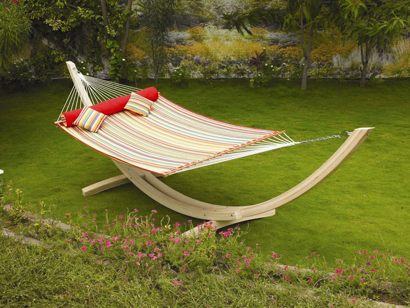 Stationery hammock at the lawn