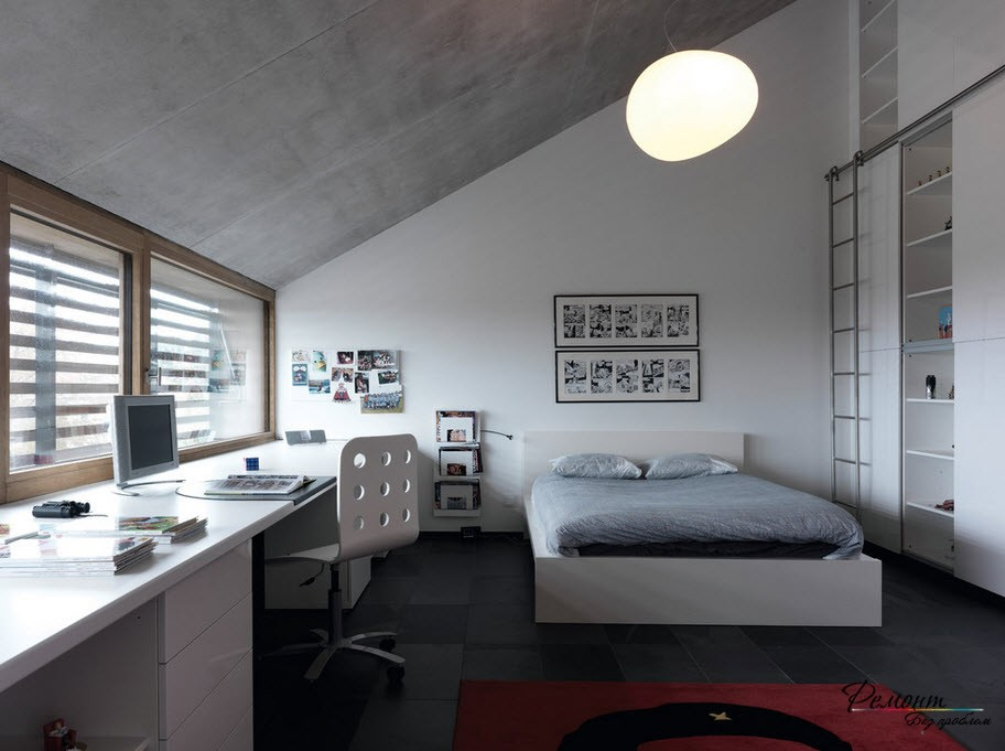 Home Office in the Bedroom: Is it the Right Place? Modern designed loft room of the bachelor