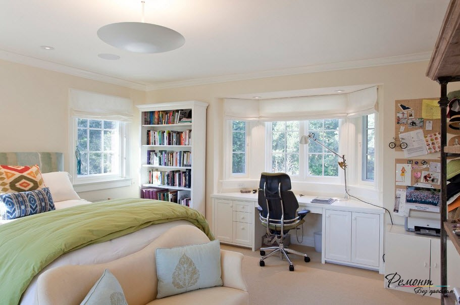 Home Office in the Bedroom: Is it the Right Place? Casual styled room in pastel colors