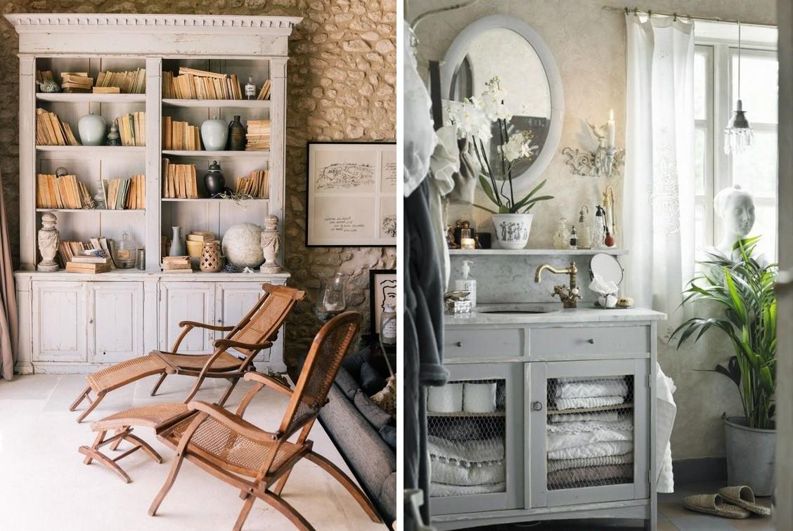 Retro interior with vintage furniture