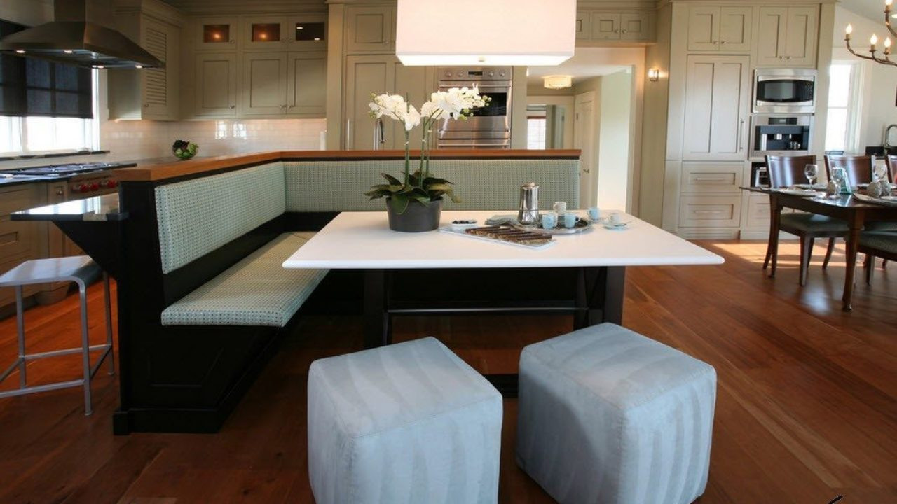 Dining Area with Corner Furniture Set - Small Design Ideas