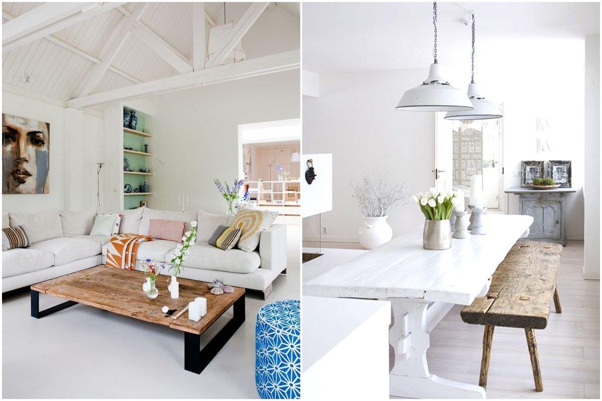 Loft designed room in white