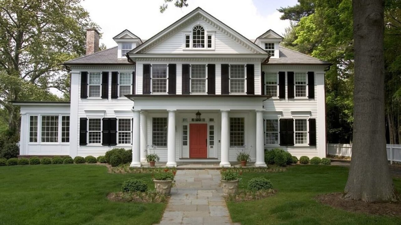 Colonial House Plans And Exteriors Original Mix Of Styles