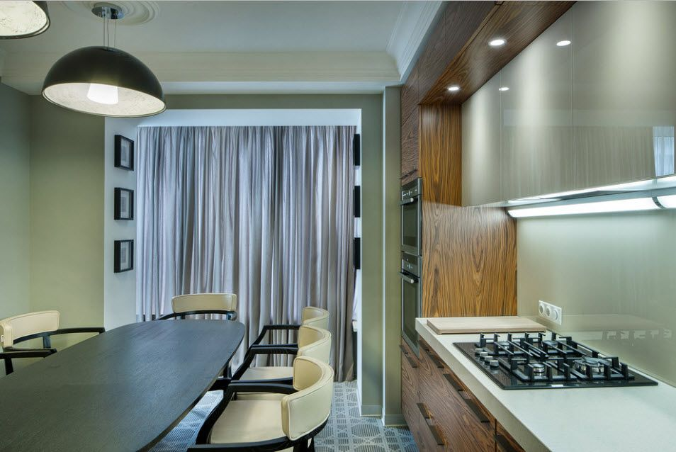 Fitted Kitchens: Impeccable Style and Functionality for any Space. Contemporary styled space in noble gray and beige color scheme and natural materials
