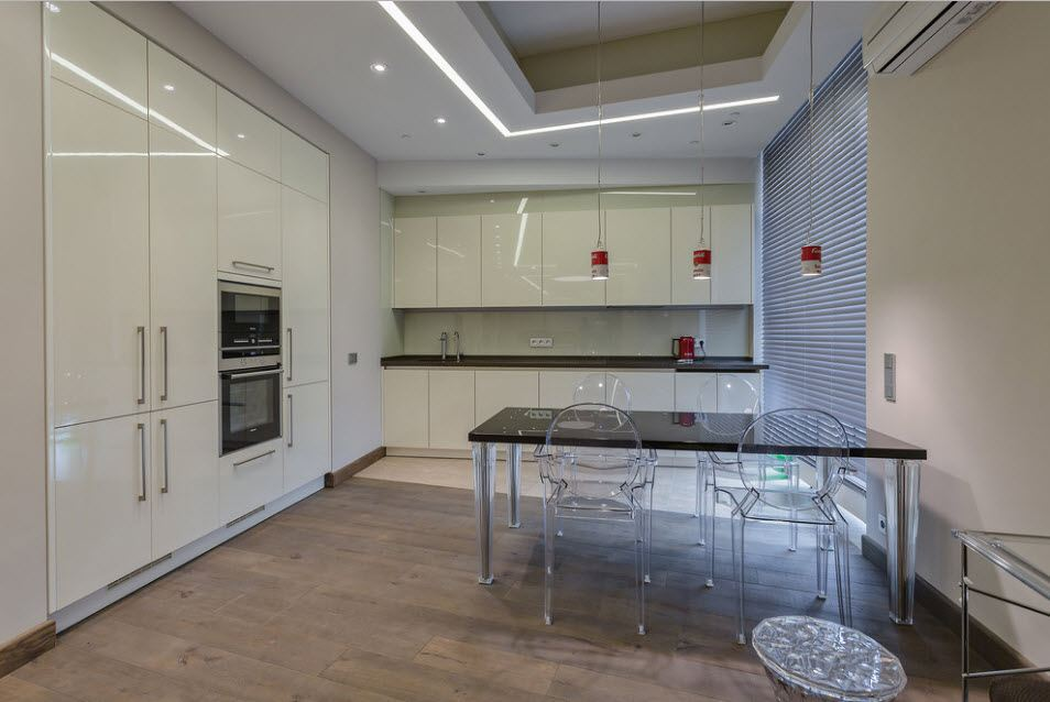 Fitted Kitchens: Impeccable Style and Functionality for any Space. Gray and white kitchen faced with plastiс panels