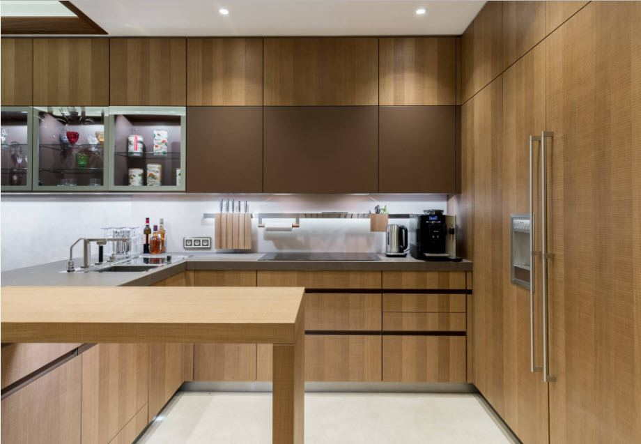 Fitted Kitchens: Impeccable Style and Functionality for any Space. Alder imitating facades