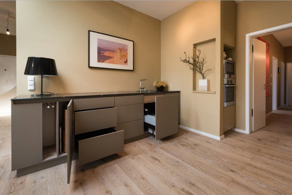 Nice angular cupboard design with the opening boxes