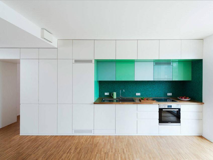 Typical modern monolithic fitted kitchen design