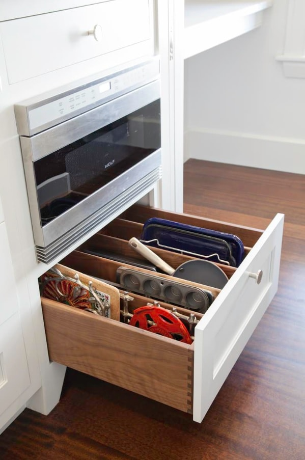 Modern Design Ideas You Can Make Yourself. Drawer dividers at the kitchen cabinet under the electric hob