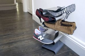 Bent matel shoe rack for modern interiors
