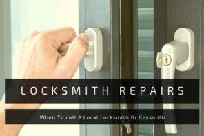 Locksmith Repairs - When to Call a Local Locksmith or Keysmith. Locked Window
