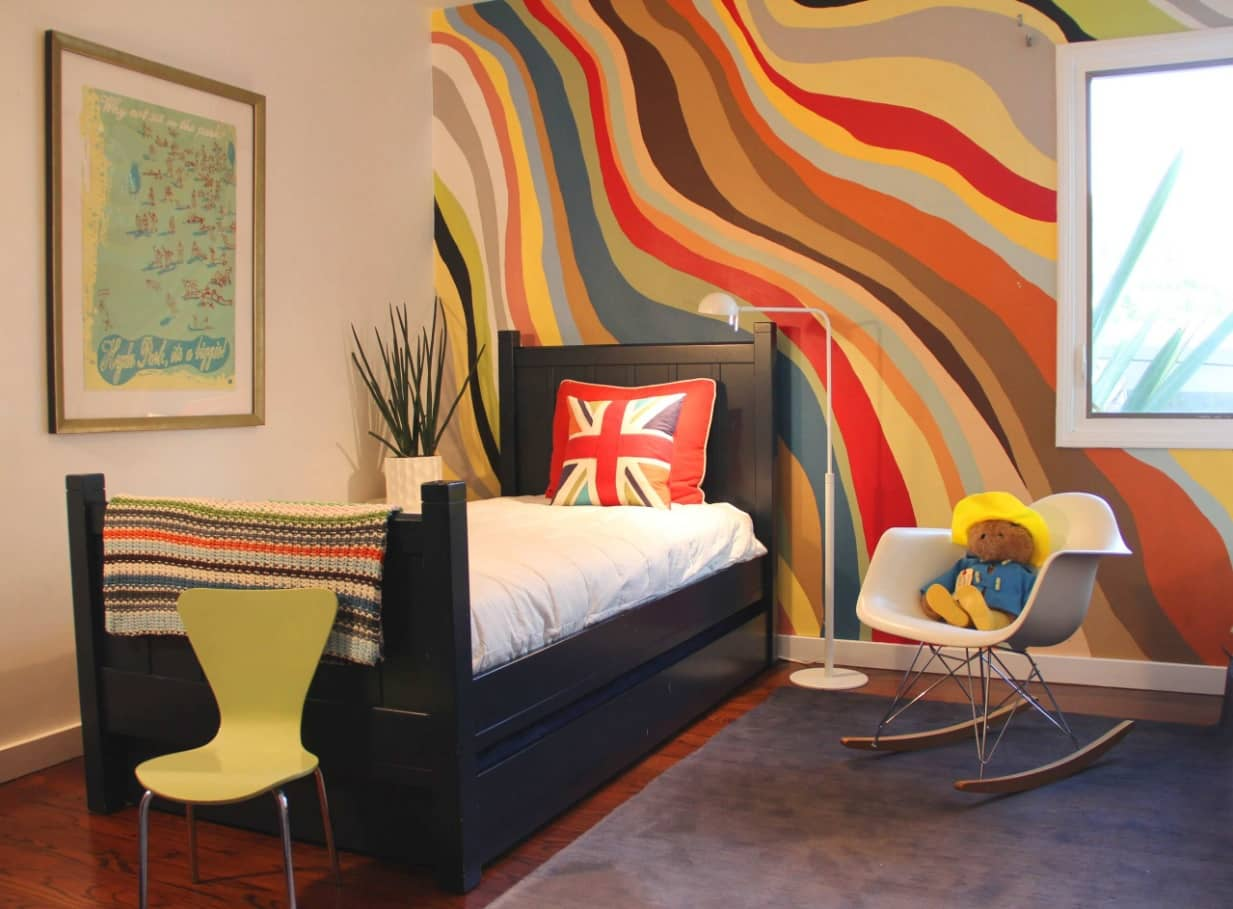 Kids Room Paint Creative Design Ideas. Impressive colorful fantasy at the wall