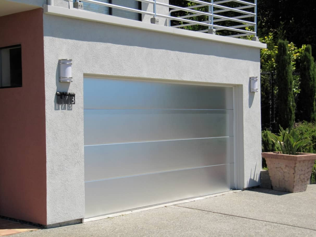 What are Residential Garage Doors? Sectional translucent garage doors at the first floor garage