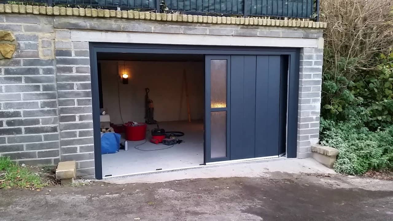 What are Residential Garage Doors? Effective black side sliding doors