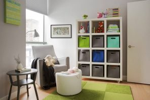 How To Make The Most Of Limited Space In Your House. Kids room with nicely organized storage systems