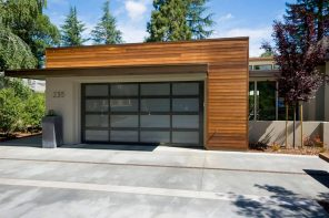 What are Residential Garage Doors? Up and over door construction at the ultramodern designed cottage
