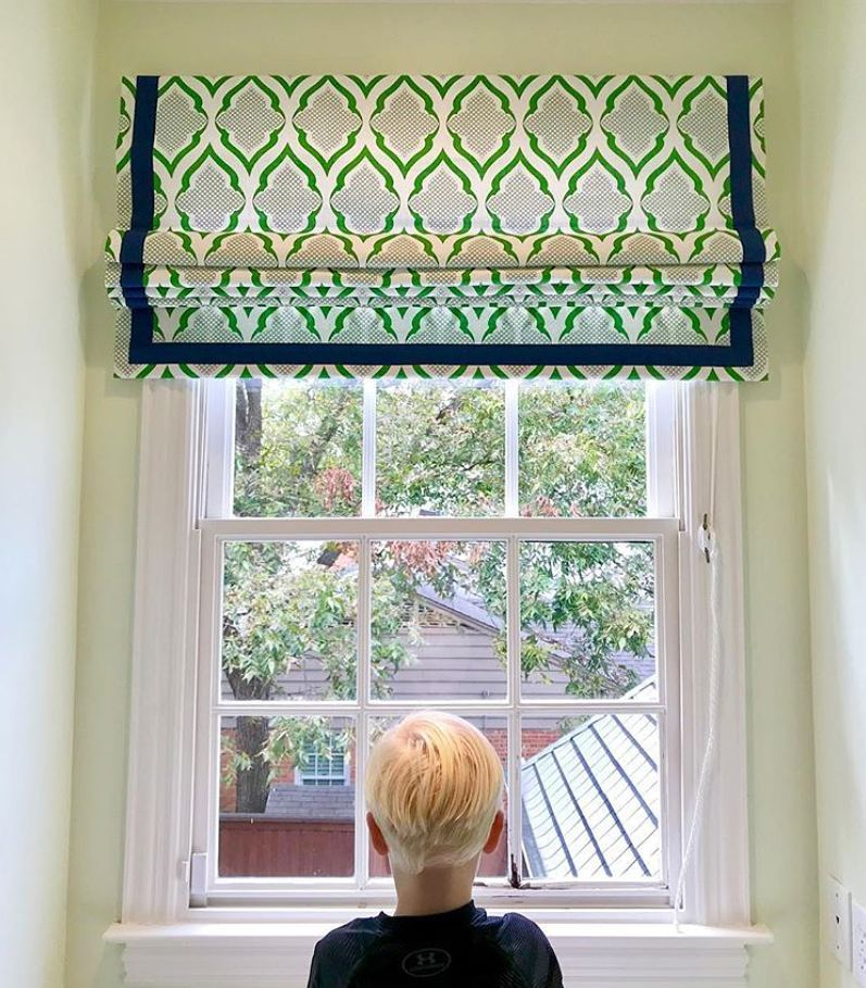 DIY Custom Roman Shades with Practical Master Classes and Photos. Creen pattern for the curtains