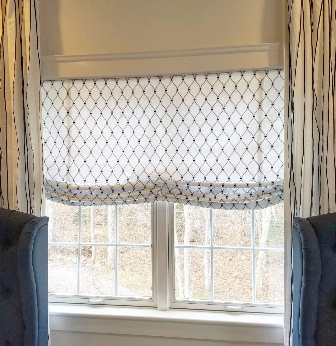 DIY Custom Roman Shades with Practical Master Classes and Photos. Dotted blinds