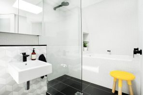 5 Key Tips for Remodeling a Small Bathroom. Nice modern design with glass shower zone
