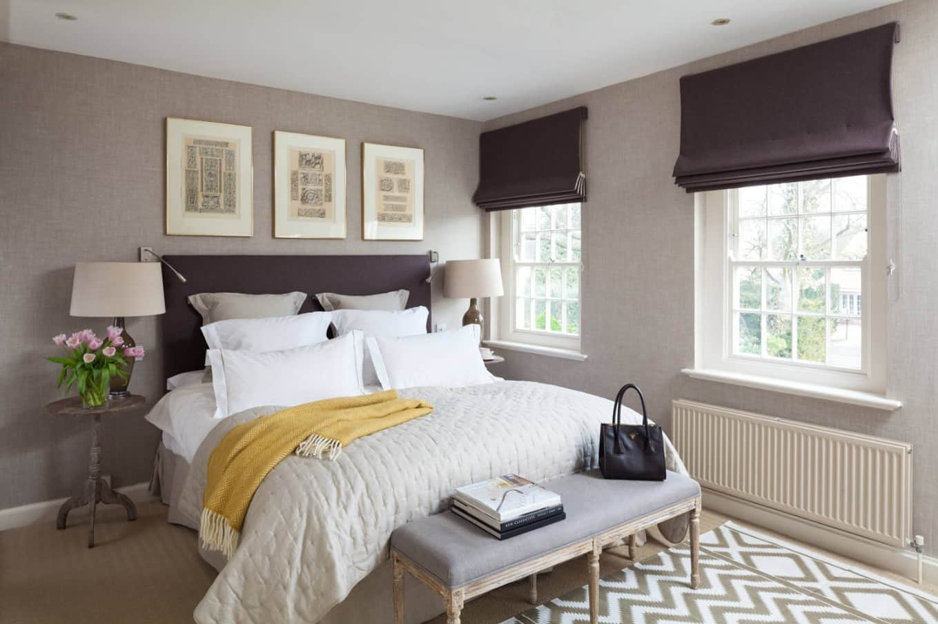 5 Bedroom Upgrades To Consider. Dark spots of the blinds and headboard