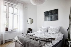 Nordic Interior Design Examples in Real Homes Photos. White color as the symbol of Scandi decoration along with tulle and upholstery