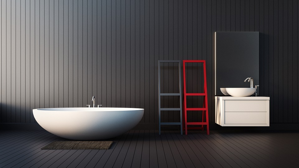 Minimalistic bathroom in black