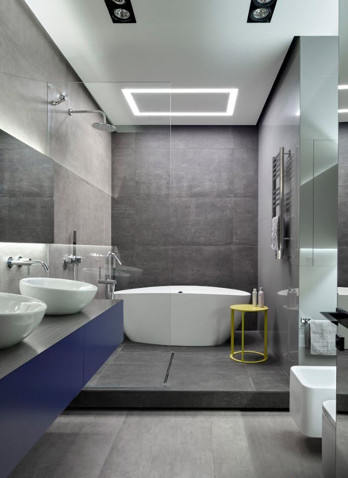 Bathroom Wall Finishing Materials Overview. Gray nobility for modern space