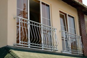 French Balcony in the Modern Interpretation and Decoration