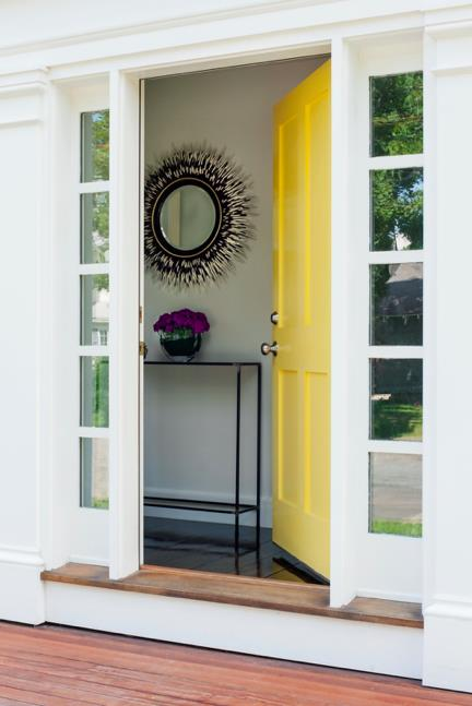 5 Super Trendy Exterior Paint Colors For Your House. Unusual yellow front door