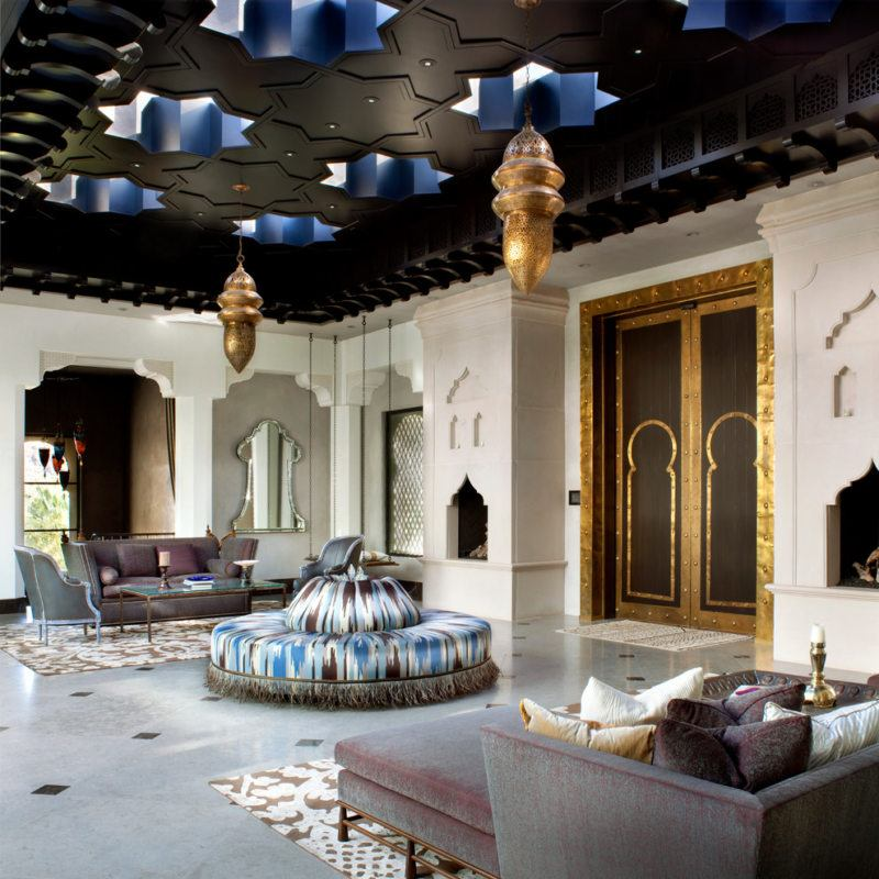 Arch in the Living Room: Unusual Design with Photos. Unusual Arabic style with black ceiling and domed pass