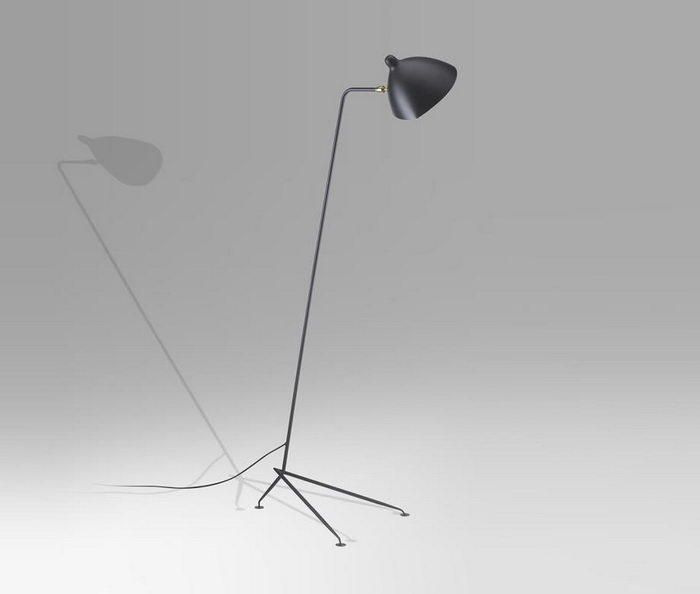 Reincarnation of Unrepeatable: 70s-80s Interior Design in Modern Interiors. Standing steel lamp