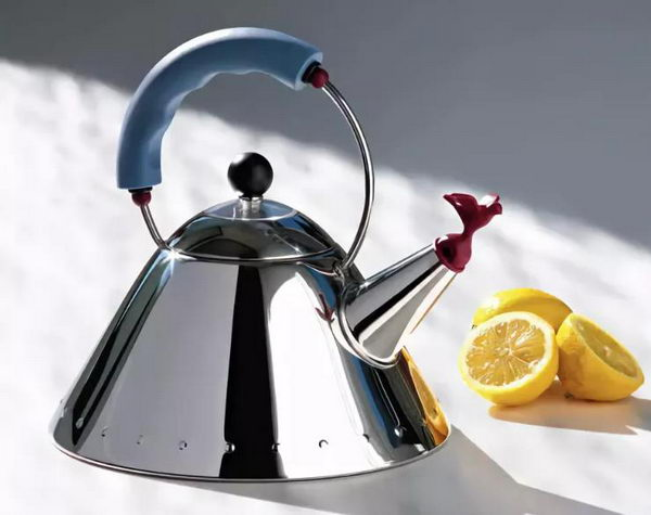 Reincarnation of Unrepeatable: 70s-80s Interior Design in Modern Interiors. Steel kettle