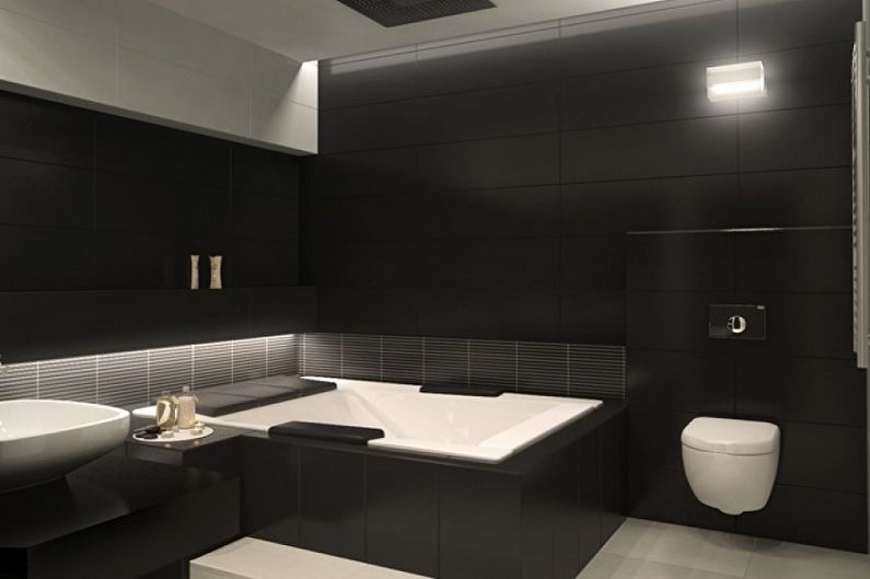Black but not dull modern bathroom