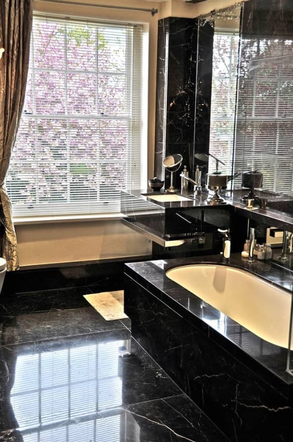 5 Design Ideas that will Make Your Bathroom Beautiful. Black marble with white streaks
