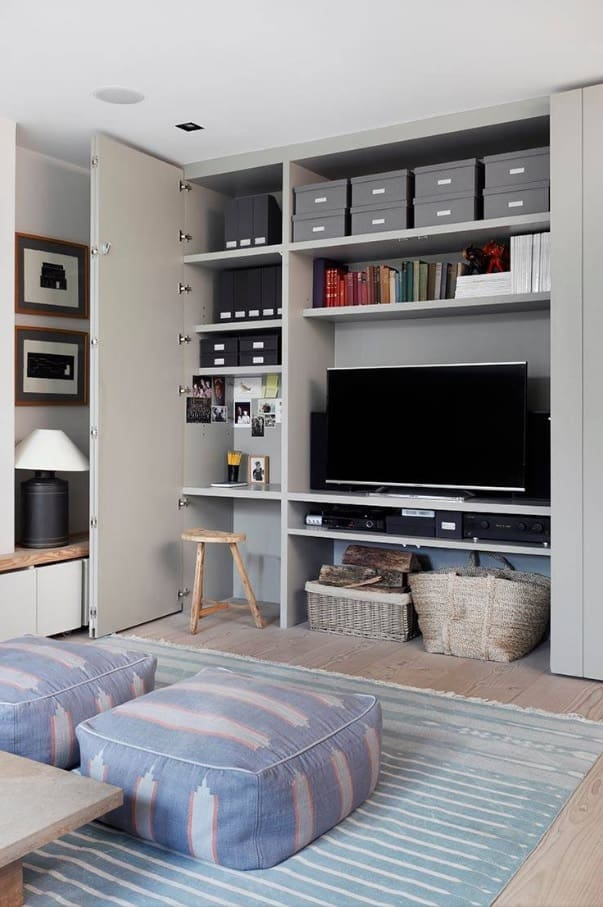 Great Camouflage Storage Ideas For Your Home. Furniture set for small casual bedroom