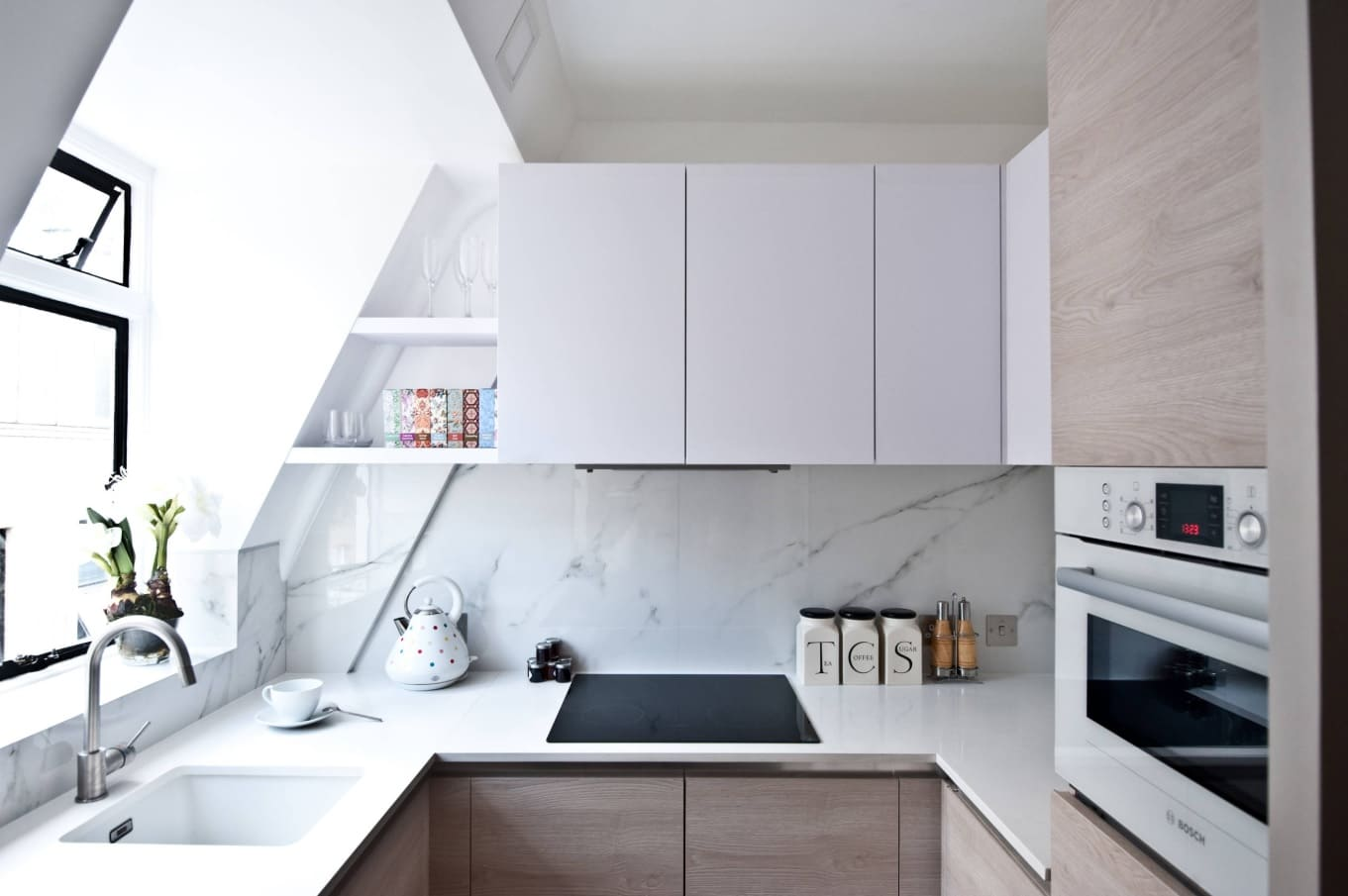 Kitchen Remodel: 3 Tips To Get More Space. Loft styled room with all the functionality