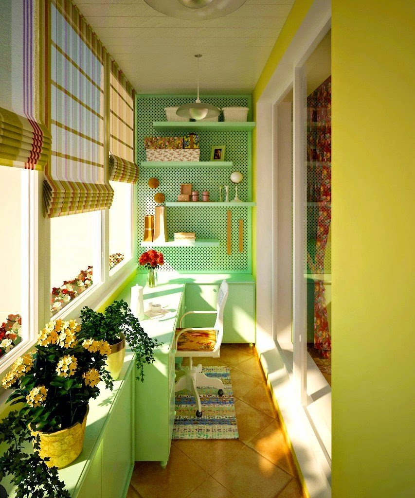 Balcony Curtains: Actual and Fashionable Decoration Ideas. Lime and turquoise colors
