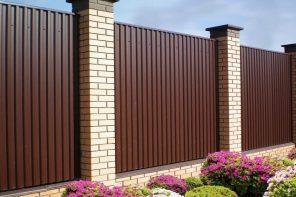 Safeguard Your Home By Installing Colorbond Fencing. The brick built pillars between fence sections
