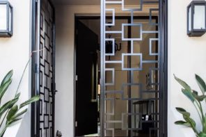 Access Denied: How to Burglar-Proof Your Home. The modern glass and metall entrance door