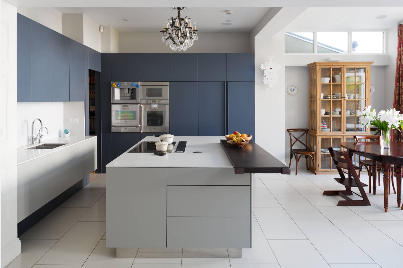 Overview of 10+ Biggest Home Design Trends in 2019 so Far. Matte kitchen finish and white tiled floor