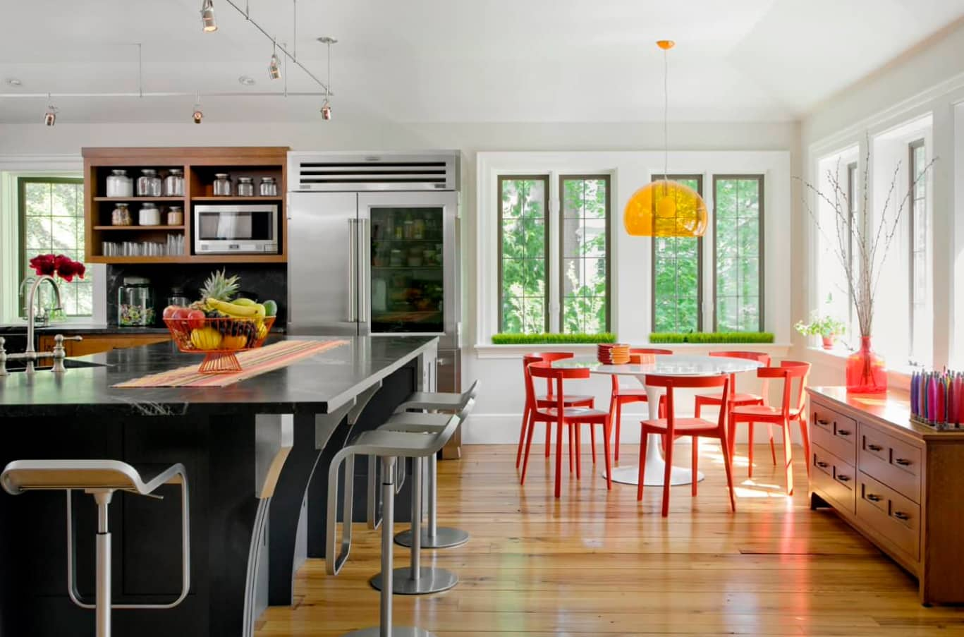 Overview of 10+ Biggest Home Design Trends in 2019 so Far. Large casual kitchen with steel surfaces